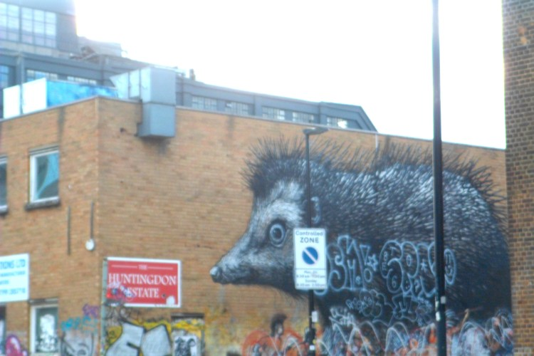 HEDGEHOG GRAFFITI SHORDITCH
