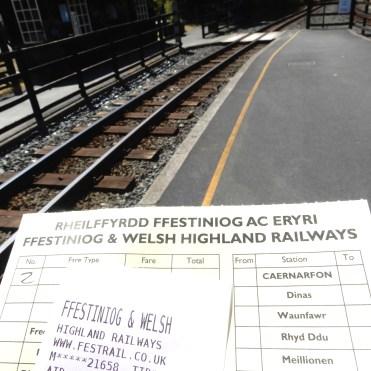 Ffestiniog & Welsh Highland Railways – Steam train journey from Beddgelert to Porthmadog Wales UK DSCN6519