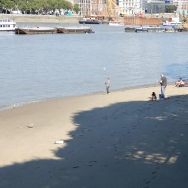 Southbank London River Thames beach DSCN7858