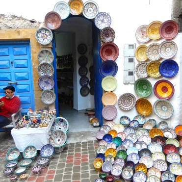 Plenty of ceramics sellers in Essaouira