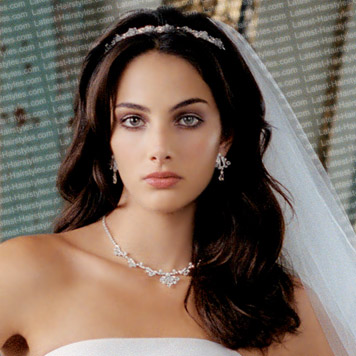ideas on long wedding hairstyles with veil cherry marry