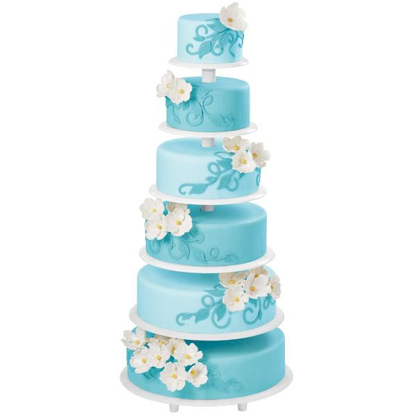 sky blue spectacle cake