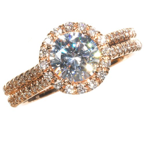 rose gold engagement ring with diamond