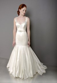 vintage silver mermaid wedding dress with halter ...