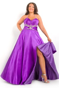 Elegant and Modest Plus Size Purple Bridesmaid Dresses