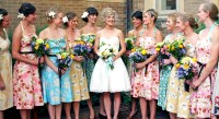 vintage bridesmaid dresses with floral accentCherry Marry ...