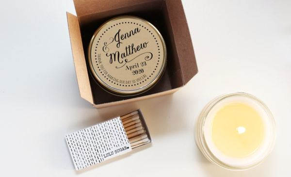 Soy Candle Wedding Party Favor