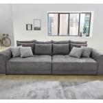 22% sparen – Big Sofa GRAU ca. 306 x 134 cm – nur 549,99€