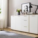 20% sparen – Sideboard UP weiß/Sonoma-Eiche-Nachbildung ca. 160 cm – nur 159,99€