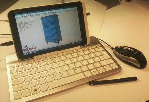 Hardware setup for using SketchUp on a tablet