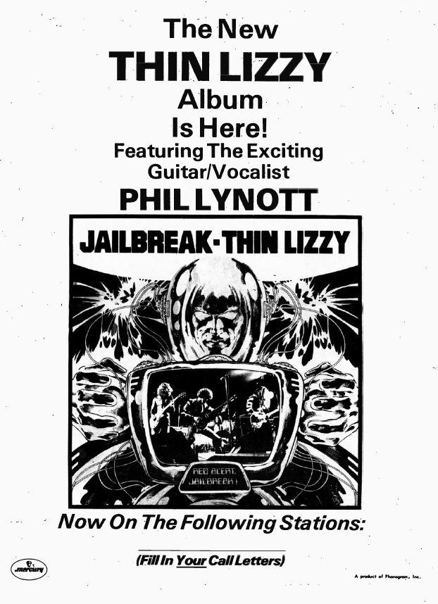 Thin Lizzy Jailbreak Radio & Records March 12 1976