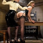Lezdom punishes and ass fucks new dominatrix!