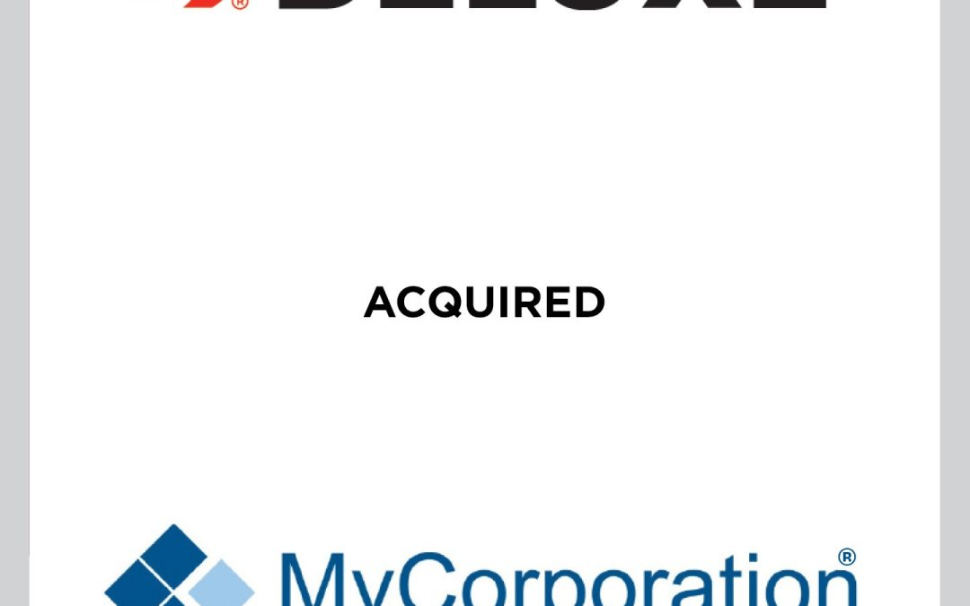 Cherry Tree advises Deluxe on the Acquisition of MyCorporation
