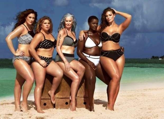 Модели plus-size в рекламе купальников Swimsuitsforall
