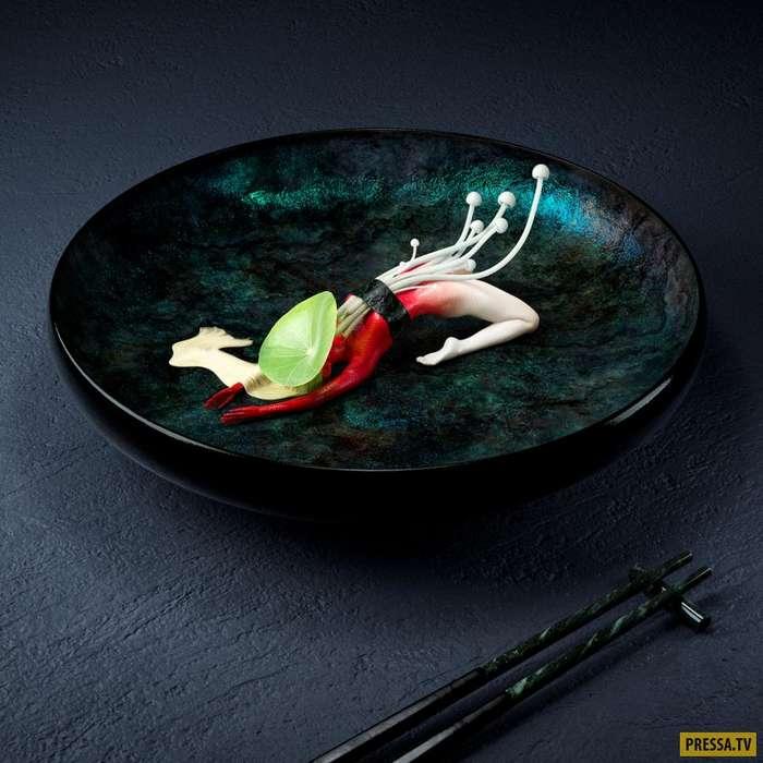 Суши, сделанные из человеческих тел (4 фото)