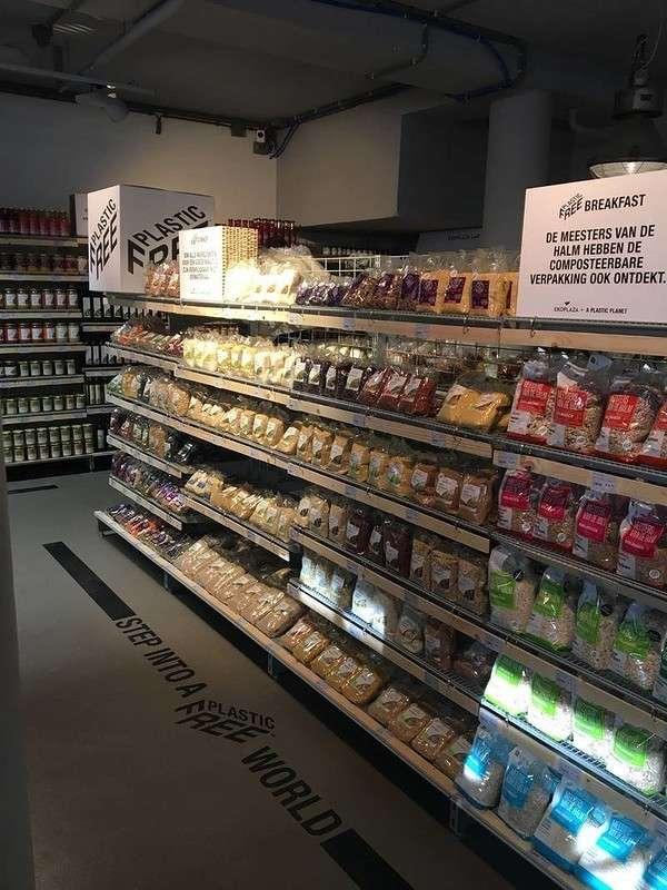 В Амстердаме открылся первый в мире супермаркет без пластиковой упаковки