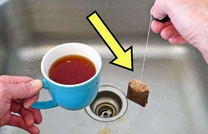 Зачем оставлять использованный чайный пакетик в раковине, и Как он решит одну пренеприятную проблему