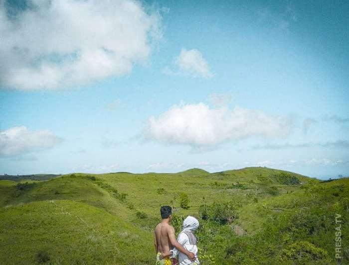 Красочные фотографии пляжей на острове Нуса Пенида в Индонезии