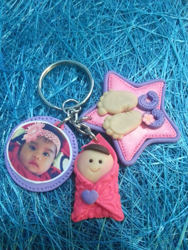 Baby in the Blanket with Picture Key Chain