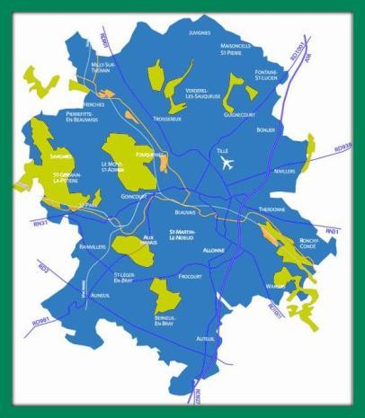 Carte du Beauvaisis