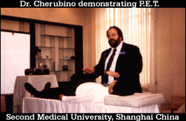 Dr Ron Cherubino lecturing at Second Medical College in Shanghai China on holistic and integrative medicine