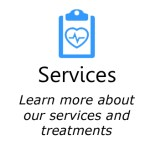 Service icon in blue