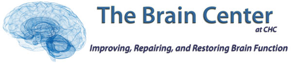 Logo in blue and green for The Brain Center at Cherubino Health Center