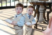 Grandsons Isaiah and James—the most adorable ring bearers ever!