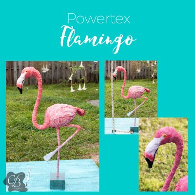 Powertex Flamingo workshop with Cheryl Boglioli