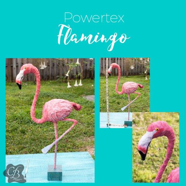 Powertex Flamingo workshop with Cheryl Boglioli