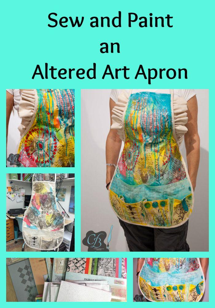How to Paint a One of a Kind Altered Art Apron www.cherylboglioli.com