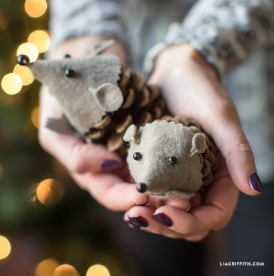 Craft_Pinecone_Hedgehog_Felt_DIY