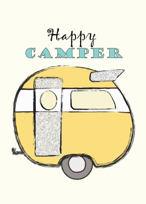 Free Happy Camper printable download