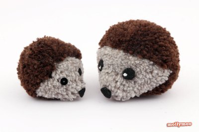 Pompom hedgehogs