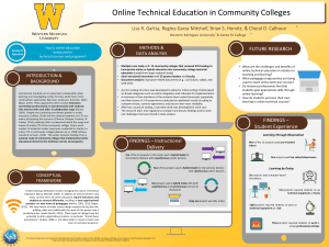 Online Technical Education in Community College: AERA Poster