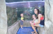 In the water cave with Sevy, Owen & Sarah.