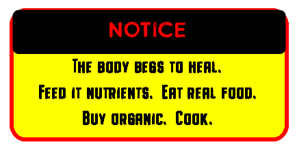 eat real food warning