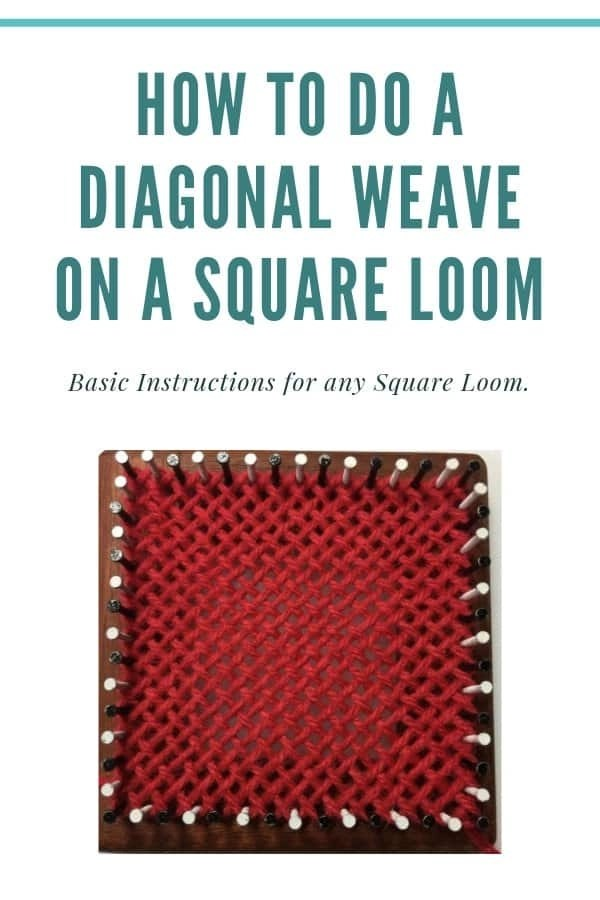 Diagonal Weave on a Square Loom