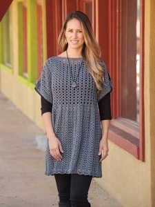 open sleeve crochet tunic