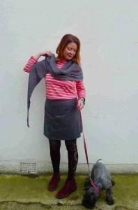 shawl and skirt