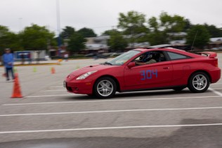 """While Garth took first place in his class in this race held in South Portland, he insists that he is not seriously competing for points. """"I like to drive fast,"""" he says, """"and racing is a way to do it legally."""""""