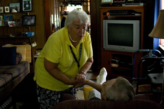 Twice widowed with two sons, 78-year-old Fleurette has visited Bob once a week since August 2008.