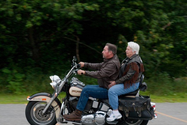 Fleurette enjoys riding on her oldest son Greg's motorcycle every chance she gets. She took the plunge into the icy Atlantic in January three times, has been para-sailing twice, and hopes to take her first hot air balloon ride on her 80th birthday.