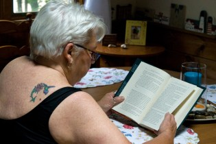 On her 75th birthday, Fleurette got her first - and so far only - tattoo.