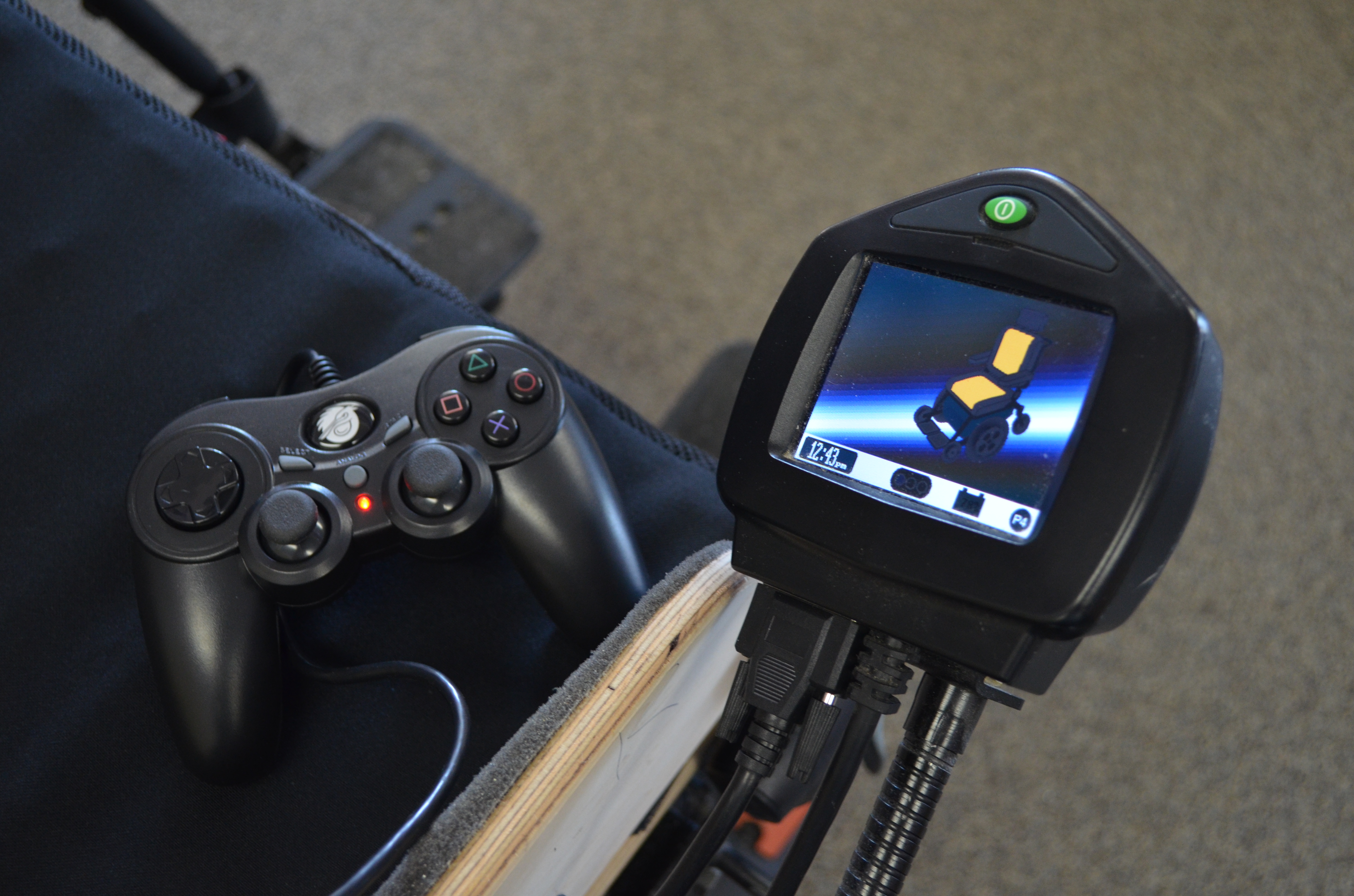 power wheelchair controller unusual chairs ireland video game nope a joystick