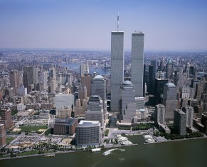 The World Trade Centers before the tragedy of their destruction.