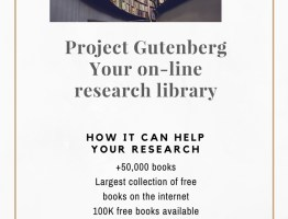 Use Project Gutenberg for awesome research.