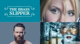 Adobe spark collage. brass slipper collage
