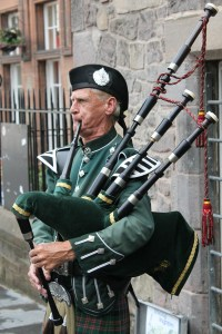 a litany of bagpipes