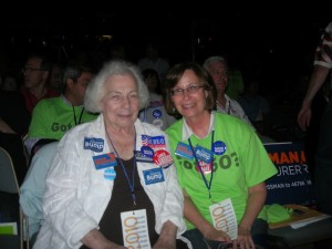 thelma and me at state dem convention 2010